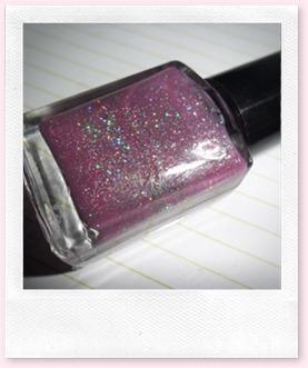 lakje roze glitters 005