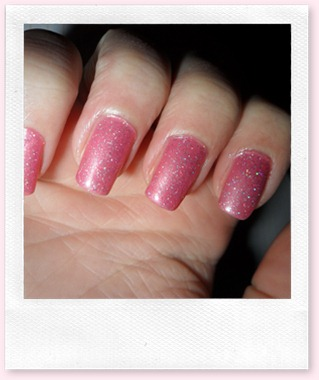 lakje roze glitters 007