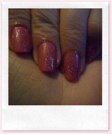 lakje roze glitters 010